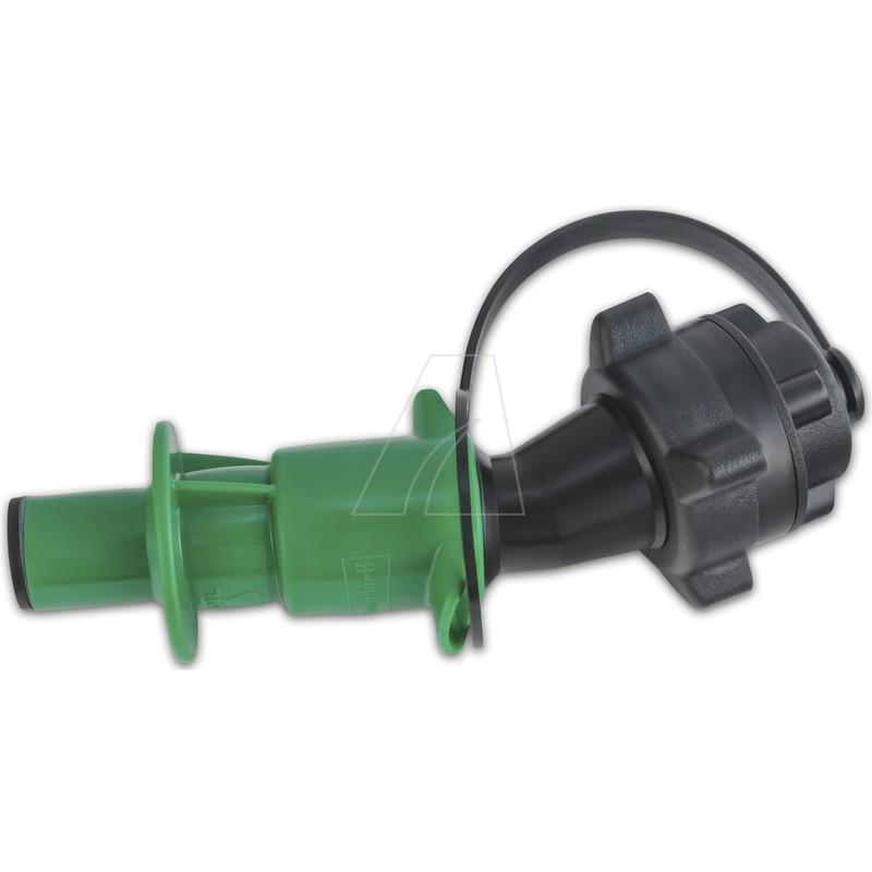 Sicherheits-Einfüllsystem für Doppelkanister für Kettenhaftöl, schwarz/grün, 6011-X1-0537