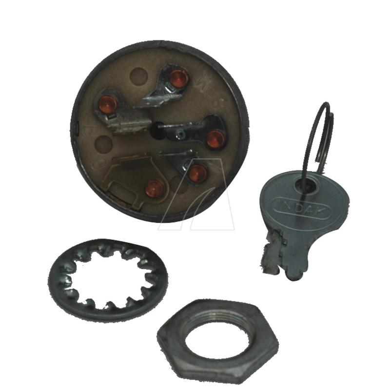 Zündschloß mit Schlüssel, 5 Pin, MTD 725-0267B, 5011-M6-0002