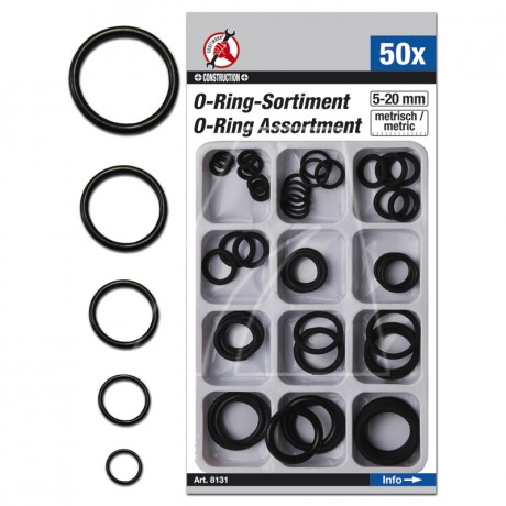 50-teiliges O-Ring Sortiment, 5-20 mm, 6011-X1-0559