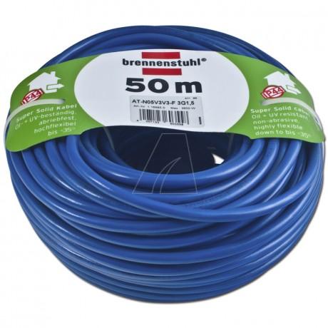 Brennenstuhl Bremaxx Verlängerungskabel IP44 50 m blau AT-N05V3V3-F 3G1,5