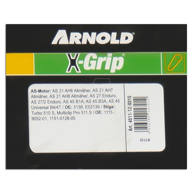 ARNOLD X-Grip Keilriemen Z 31,5, 4511-1Z-0315