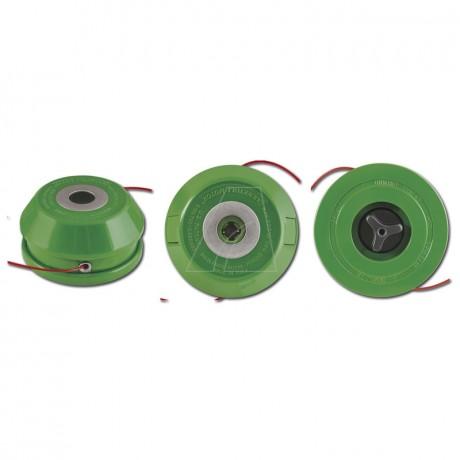 2-Fadenkopf, halbautomatisch Kapazität: bis 13m Faden (Ø 2,4mm)