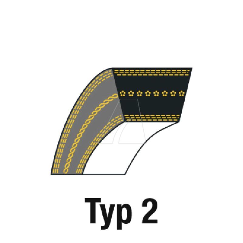 Keilriemen 1/2 x 63, 4011-M6-0240