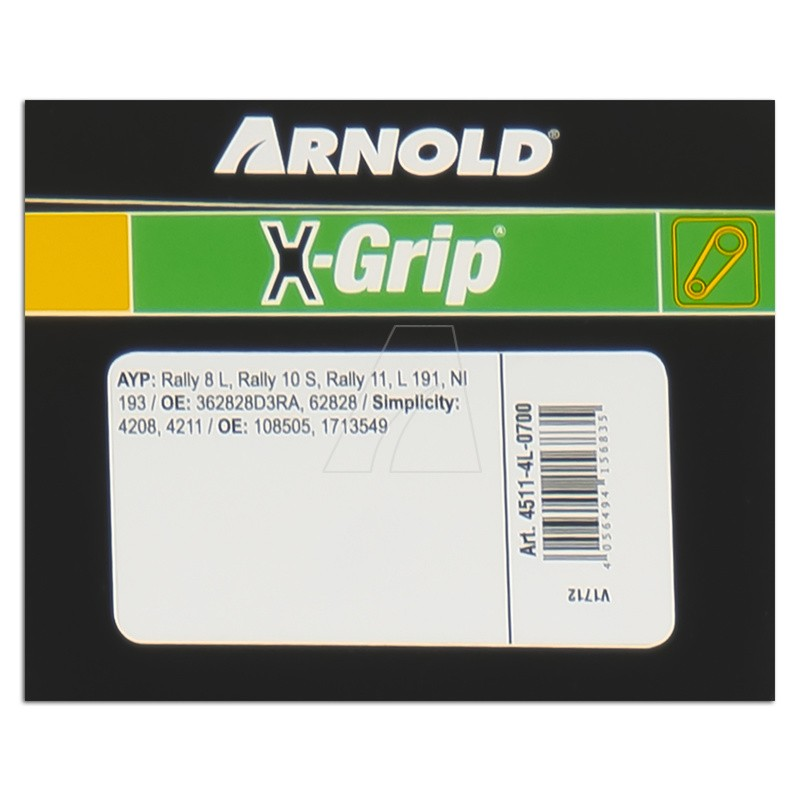 ARNOLD X-Grip Keilriemen 4L 700, 4511-4L-0700