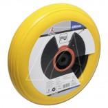PU-Schubkarrenrad 400 mm, gelb