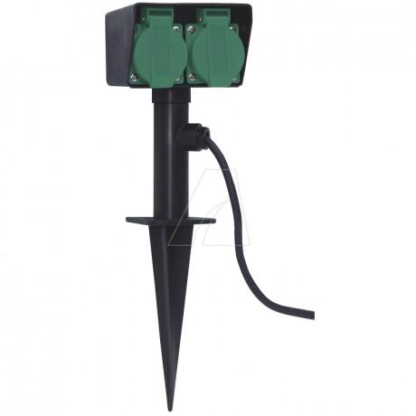 Brennenstuhl Gartensteckdose mit Erdspieß IP44 2-fach 1,4m H07RN-F 3G1,5