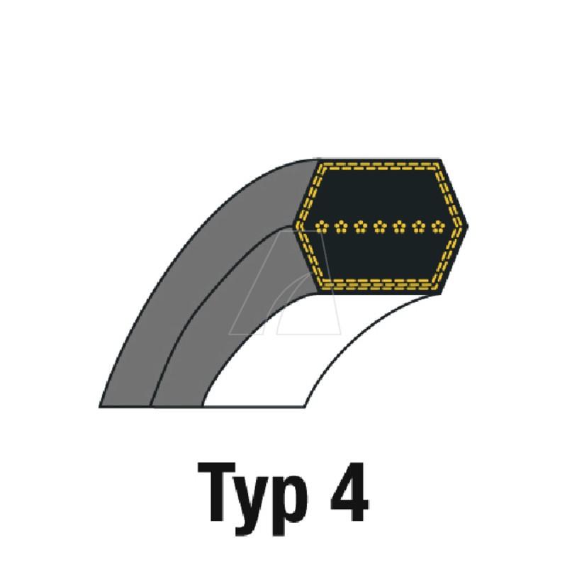 Sechskantriemen AA95 12,7 x 2413, 4011-M6-0071