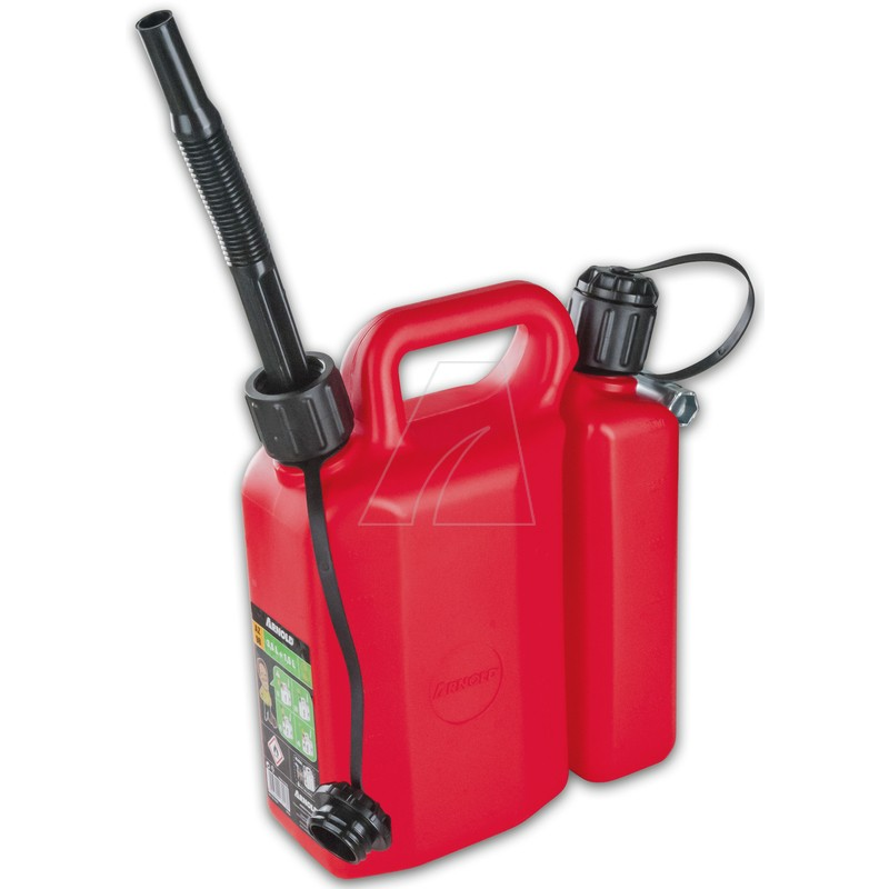 Doppelkanister 3 + 1,5 Liter, inkl. Auslaufrohren, 6011-X2-7007