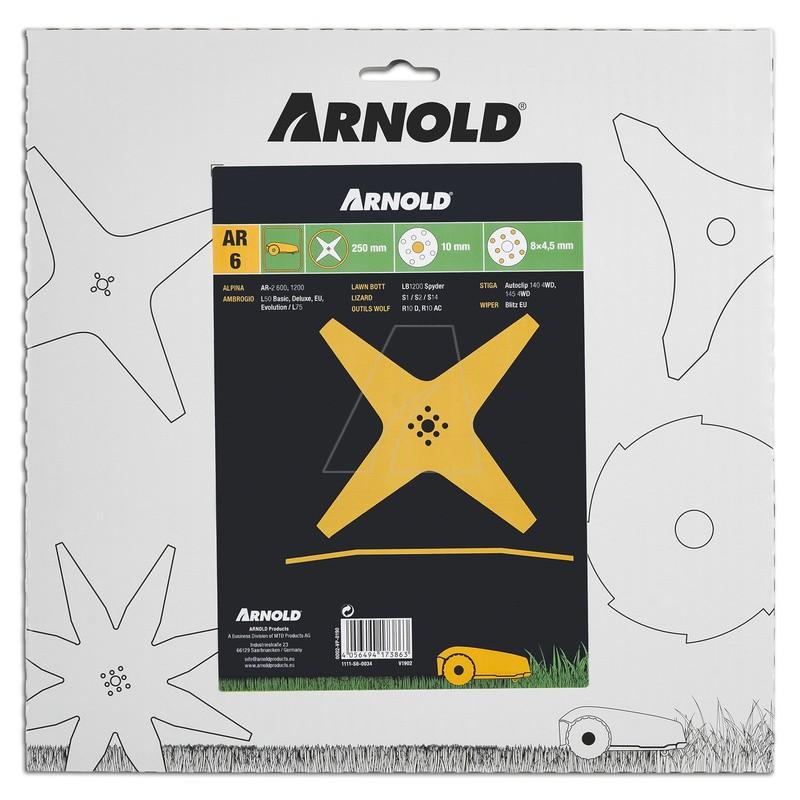 Mähklinge AR6 passend für Mähroboter, 250 mm, 1111-S6-0034