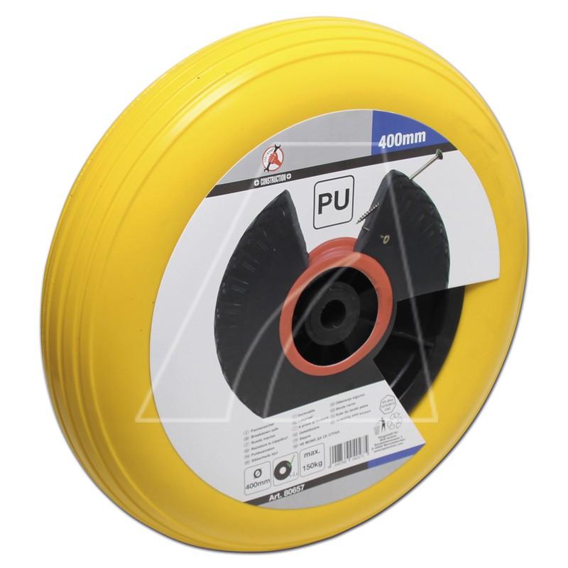 PU-Schubkarrenrad 400 mm, gelb, 6011-X1-0555