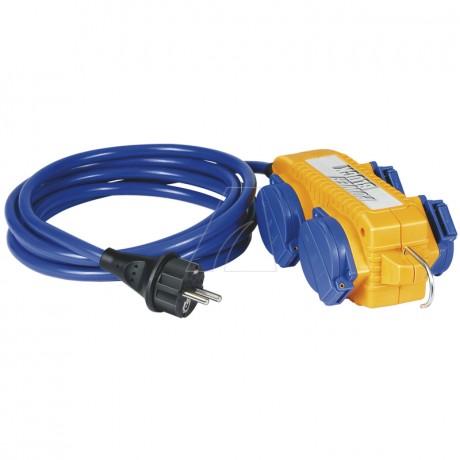 Brennenstuhl Verlängerungskabel IP44 mit Powerblock 5m, blau, AT-N05V3V3-F 3G1,5