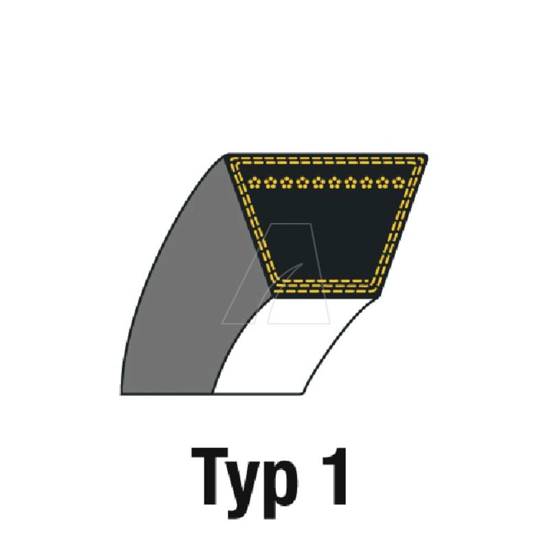 Keilriemen B55 Bareback 17 x 1400, 4011-W7-0017