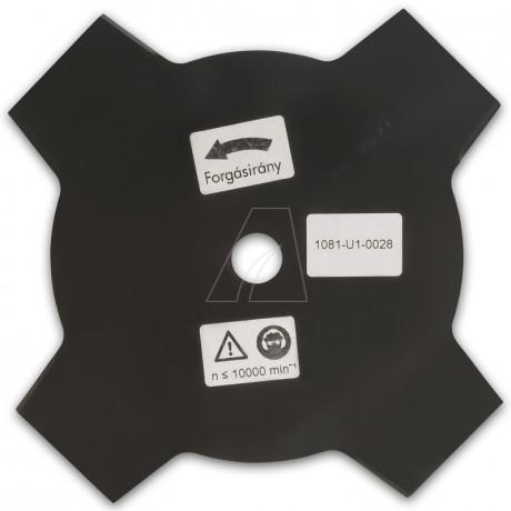 Mähmesser 230 mm, 4 Zahn, ZB Ø 20,0 mm, 1,5 mm