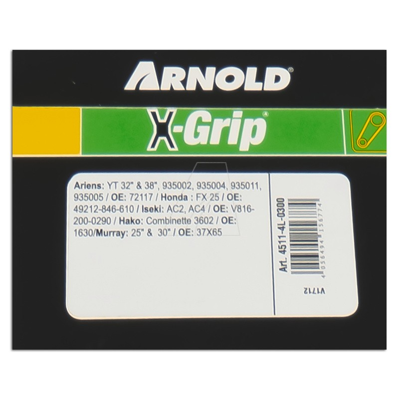 ARNOLD X-Grip Keilriemen 4L 300, 4511-4L-0300