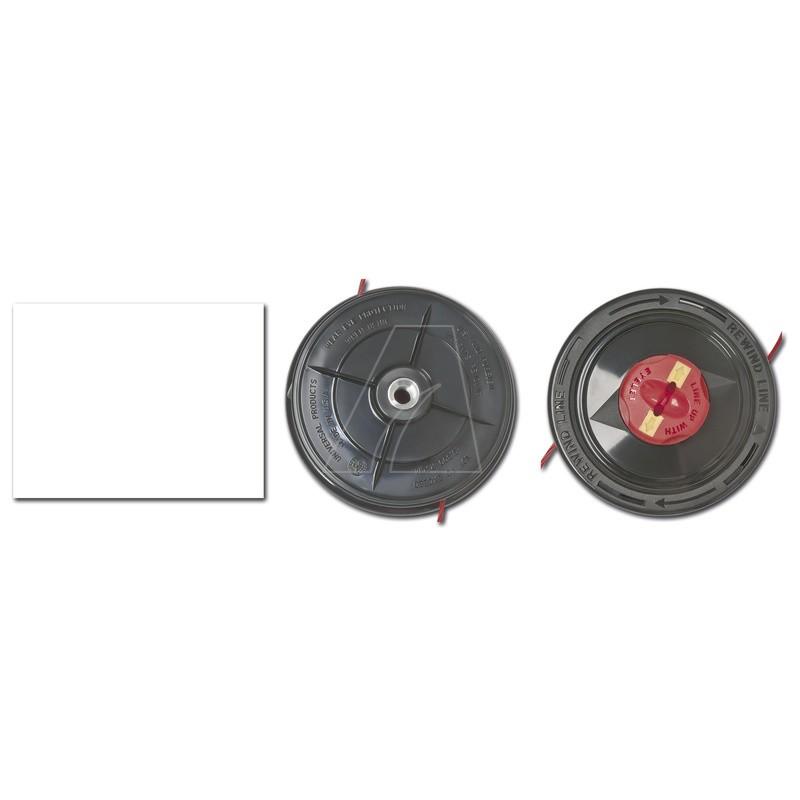 Schnelladefadenkopf f. Trimmer, M10x1.25 mit 2,4mm Ultra quiet Faden, 1083-M6-0001