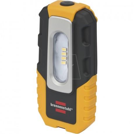 Brennenstuhl 4 LED Akku-Handleuchte HL DA 40 MH, 220 lm, Haken, Magnet, Clip, knickbar